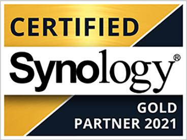 Synology Partner Logo Certified Gold Partner 2021